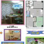 Photo: 間取図                             - 女性限定!礼金0円!!6畳個室+収納+TV+インターネット付き♪(短期可)(長期契約優遇有り)