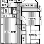 Photo: 間取図                             - 地域最安値!2ヶ月フリーレント!★入間市!3LDK!1.6万円!★ローズ小谷田★