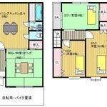 画像: 間取図                             - 賃料値下げキャンペーン中★京都の女性限定シェアハウス★1軒家を少人数でシェア★鍵付個室★法人管理です。