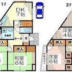 画像: 間取図                             - 個室で24000から。京王線、小田急線利用可能です。急行停車駅のつつじヶ丘。