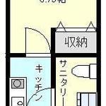 画像: 間取図                             - 新築】小田急江ノ島線『鶴間』駅徒歩3分!駅近1Kアパート完成です★