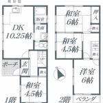 画像: 間取図                             - 奈良県生駒市南生駒の一軒家で空き部屋あります。駅徒歩7分。スーパーやコンビニなど近いです。