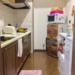 画像: キッチン                             - 10月から入居可能 女性オーナー 2LDK 中央区桜坂 (a room for rent near tenjin