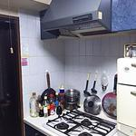 Photo: キッチン                             - 個室、カギ、エアコン、テレビ付!