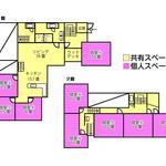 画像: 間取図                             - 女性限定! 9人用の大きなシェアハウスが函館に登場!