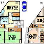 画像: 間取図                             - 個室で24000。京王線、小田急線利用可能。急行停車駅つつじヶ丘。