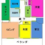画像: 間取図                             - 福岡市西区 個室 22000円