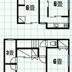 Photo: 間取図                             - 東久留米。全室個室、フローリング、鍵、ベッド、エアコン付き。Wi-Fi利用可。17000~26000円。