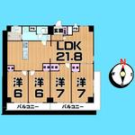 画像: 間取図                             - 赤羽、王子/ルームメイト募集