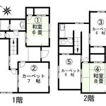 画像: 間取図                             - JR中央線 西八王子駅 徒歩12分 の 戸建個室