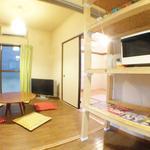 画像: リビング                             - 本に囲まれた豊かな生活を。EN HOUSE NERIMA(女性に嬉しい綺麗なバスタブ完備!)
