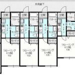 画像: 間取図                             - 2016年築ファミリーアパート3LDK 相模大野駅徒歩12分 今なら初期費用15万円以上お得になります!