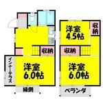 画像: 間取図                             - 東武東上線鶴瀬 戸建  55㎡ 3DK