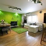 画像: リビング                             - 完全個室・各部屋鍵付き★新宿まで14分★家具Wifi付き★大きなリビングとキッチン