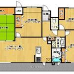 画像: 間取図                             - 福岡市で高級マンションをシェアしませんか? 家賃40000円代で高級マンションに住めるかも!