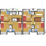 画像: 間取図                             - 即入居可能!物件はフルリノベーション済みでとても綺麗なお部屋。 38800円!そして各お部屋、全てに流し台完備。家電家具充実。 パーソナル重視型の女性専用ルームシェアをご紹介致します。