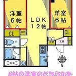 画像: 間取図                             - 【高田馬場駅徒歩6分】新宿5分、池袋5分!綺麗な2LDKの部屋の余っている一室(6帖)をお貸しします。