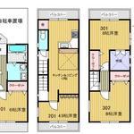 画像: 間取図                             - 京都の一軒家★少人数制の社会人シェアハウス★新築女性限定の綺麗な室内★全室鍵付個室