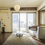 画像: リビング                             - 高層マンションのルームシェア