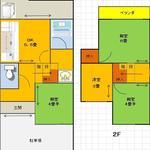 画像: 間取図                             - シェアハウスYAMASHINA 東野駅徒歩4分 完全個室 家賃3万円! 女性専用!! お米5㎏プレゼント 条件付保証金無料!!  安くでもお値段以上ですよ!頑張ってる方応援します!