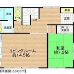 Photo: 間取図                             - 1部屋募集!女性限定!ゆったり個室と家庭菜園もできる広いお庭!!