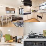 画像: キッチン                             - 初期費用ゼロ!家具家電付き!駅近一戸建て、家具家電付き!