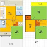 Photo: 間取図                             - Rent 35,000 yen Move in from 1st of August Subway Higashino Station 4 minutes walk  Female