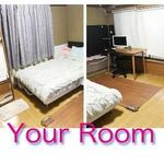 Photo: Single Room                             - 2月末まで部屋代0円。 留学、就労資格のある外国人と日本人学生、又は高年齢で仕事探しに苦戦してる