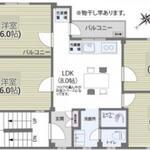 画像: 間取図                             - 東北沢のシェアハウス用マンション/新宿渋谷からも電車で10分