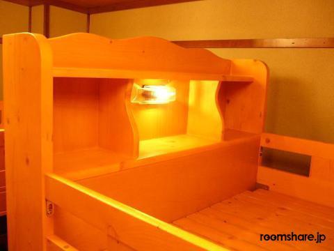 Japan accommodation ドミトリー寝室