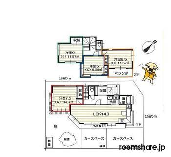 photo of Japan roommate 間取図