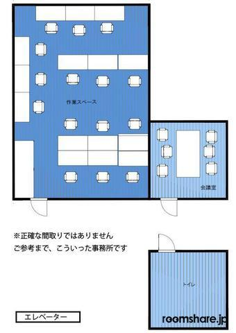 Japan office share 間取図