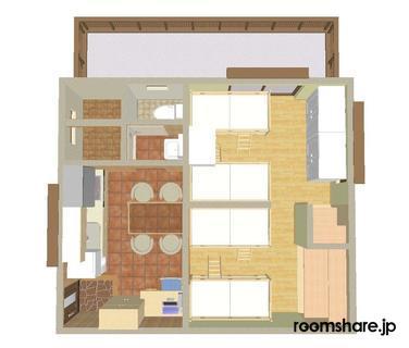 Japan accommodation 間取図