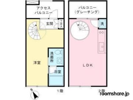 Japan office share 間取図