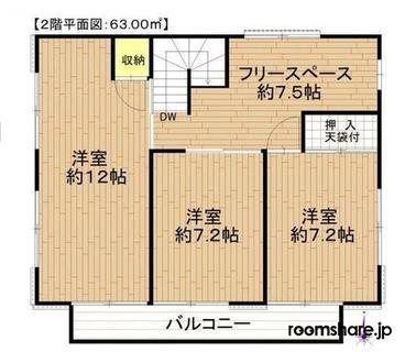 photo of Japan roommate 間取図